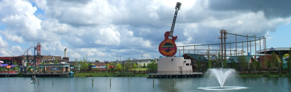 Freestyle Music Park's beautiful lagoon