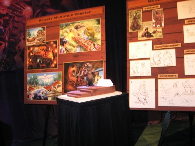 Concept Art Boards were on display to give guests an idea of how it will all come together.