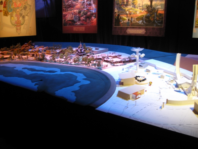 A model of the entire Hong Kong Disneyland Expansion is shown here.