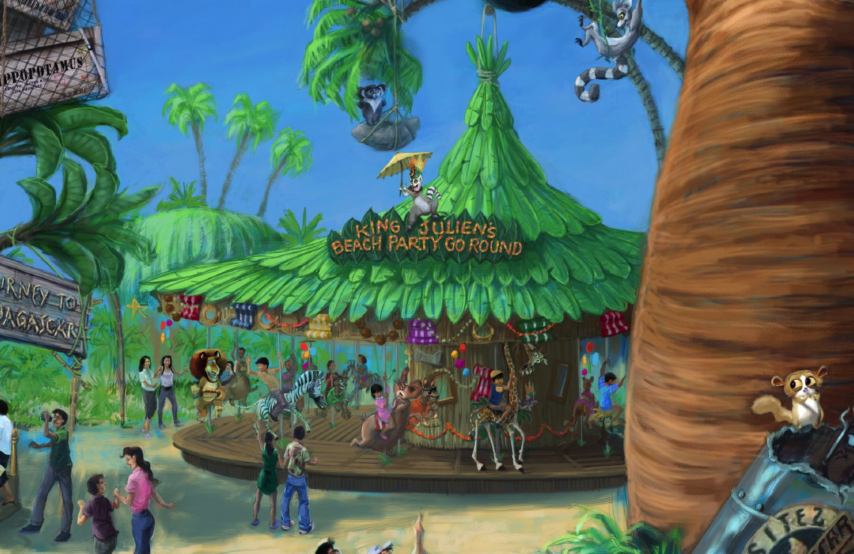 King Juelien's Beach Party-Go Round is a wildly themed carousel like no other.