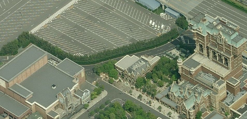 Toy Story Mania will be located between the Broadway Music Theater (right) and the Tower of Terror (left) in what is currently an employee parking lot.