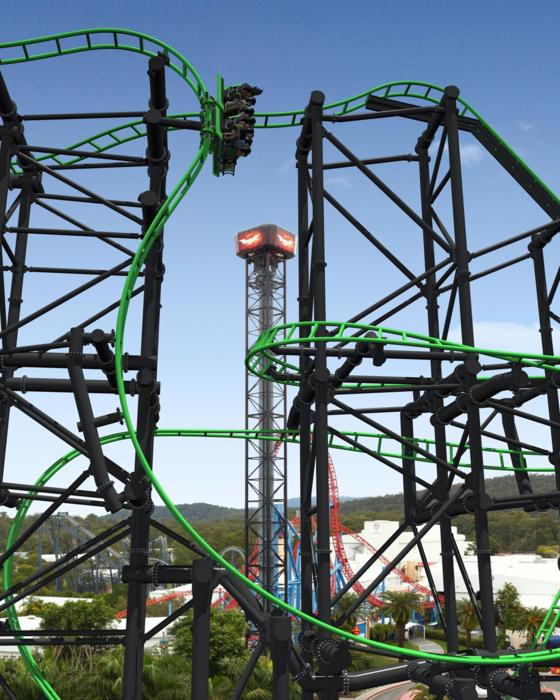 Warner Brothers Movie World To Add Green Lantern Coaster Park