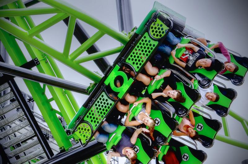 Green Lantern Coaster Debuts At Warner Bros Movie World Park